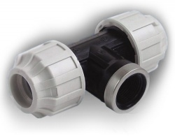 20mm mdpe tee x female bsp for 90mm soil pipe collar