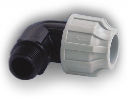 50mm mdpe elbow x 1 male bsp for 90mm soil pipe collar