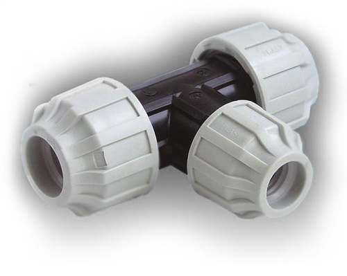50mm x 50mm x 32mm reducing tee for 90mm soil pipe collar