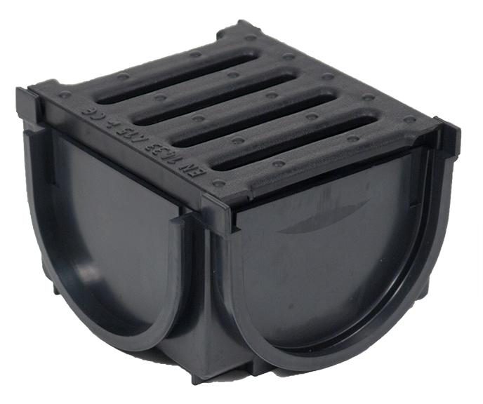 Dek drain junction box plastic grate for Yard drain box