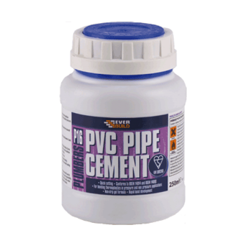 Solvent For Pvc Pipe And Cement : Everbuild p pvc pipe cement drainageshop