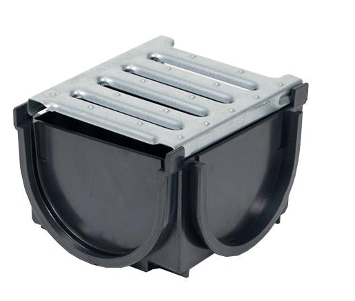 Dek drain junction box galvanised grate for Yard drain box