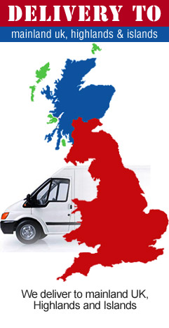 We deliver to mainland UK, Highlands and Islands.