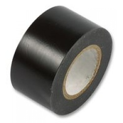 75mm x 33m Black PVC Single Sided Tape