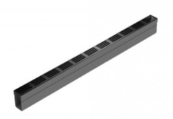 Threshold Drainage x 1m Black Aluminium Grating