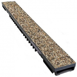 Low Profile Drainage Channel x 1m A15 Porous Composite Pea Gravel Cover