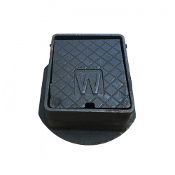 Cast Iron Surface Box Badged 'W' 152mm x 127mm x 75mm Deep