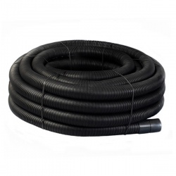 Black Twinwall Duct 63mm x 25m Coil