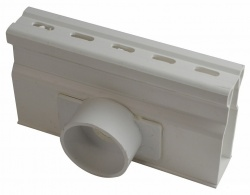 NDS Micro Channel Side Outlet White