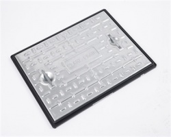 600mm x 450mm Steel Manhole Cover PP Frame 10tonne GLVW PC6CG