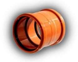 110mm Drainage Double Socket Coupling Pack of 50