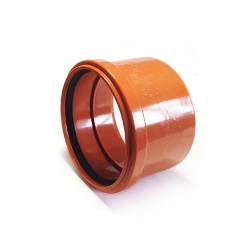 Single Socket Coupler With Solvent Tail For 110mm Underground Drainage Pipe