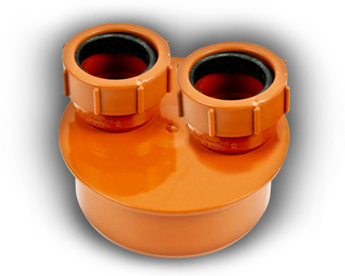 110mm Double Waste Adaptor 32mm & 32mm