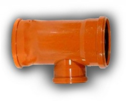 160mm 87° Triple Socket Junction 110mm Branch