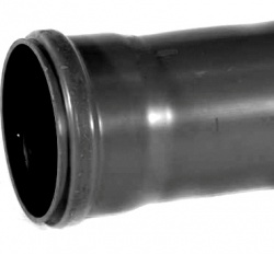160mm Soil Pipe Single Socket x 3m Black