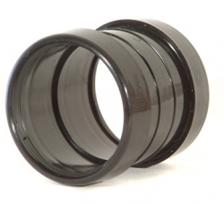 160mm Double Socket Coupling Black
