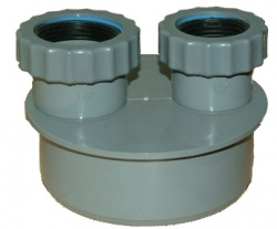 110mm Double Waste Adaptor 40mm/40mm