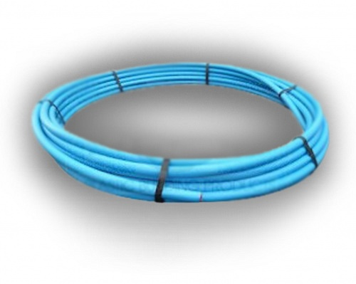 Blue MDPE Water Pipe 32mm x 100m Coil