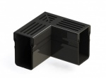 Threshold Drainage Corner Black Aluminium Grating