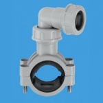 Overflow 1¼''/1½'' Pipe Clamp Grey