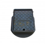 Cast Iron Surface Box Badged 'Gas' 150mm x 150mm x 76mm Deep