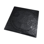 450mm Dia Pedestrian Duty Round to Square Cover & Frame