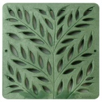 12'' Botanical Catch Basin Grate - Green