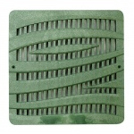 12'' Wave Catch Basin Grate - Green
