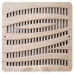 12'' Wave Catch Basin Grate - Sand