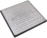 600mm x 600mm 10Tonne Locking Steel Cover & PP Frame PC7CG3