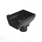 114mm Square Stopend Outlet to 65mm Square Downpipe