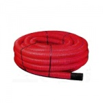 Red Twinwall Duct 63mm x 50m Coil